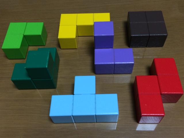 賢人パズル カラフルな7つのブロック