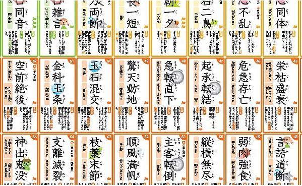 四字熟語ポスター